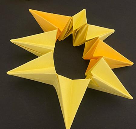菠萝手工折纸方法图解 手工折纸-第10张