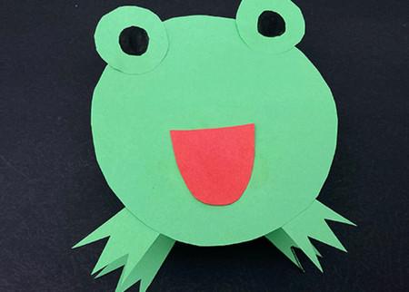 会跳的青蛙手工折纸图解步骤 手工折纸-第1张