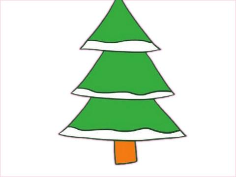 教小朋友画简单的松树简笔画 初级简笔画教程-第9张