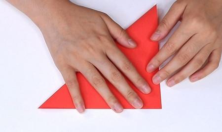 用纸折扇子的方法步骤图片 手工折纸-第2张