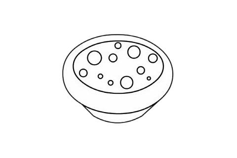 蛋挞简笔画完成图