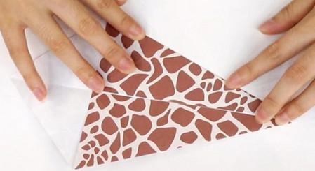 长颈鹿儿童手工折纸步骤图详解 手工折纸-第2张