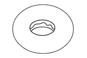 甜甜圈简笔画图片步骤二