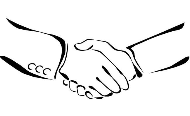 两个人握手简笔画 人物-第1张