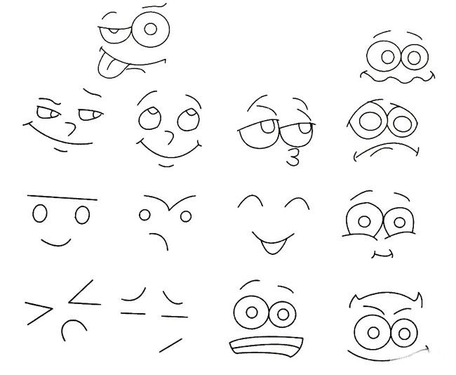 人物表情简笔画的画法步骤 人物-第1张