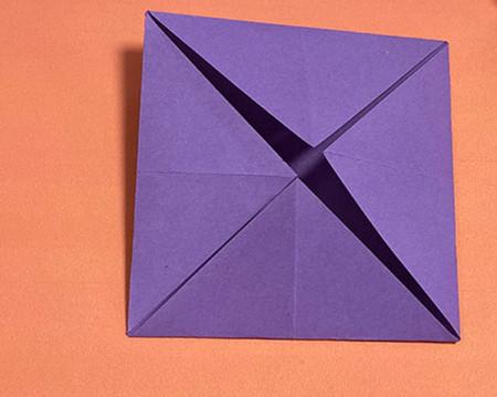 牵牛花折纸步骤图解法 手工折纸-第3张