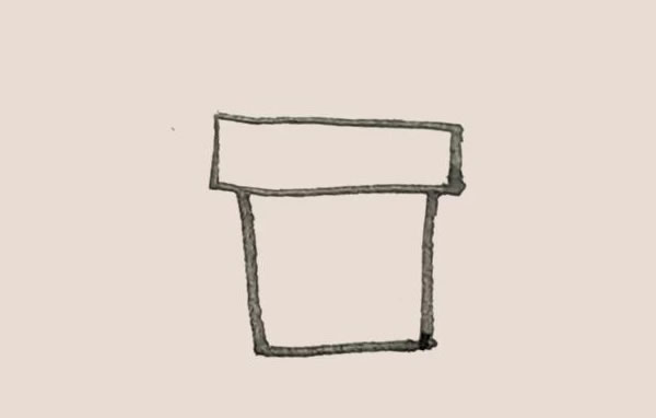 三叶草盆栽简笔画画法教程 中级简笔画教程-第3张