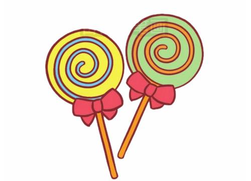 糖果简笔画图片