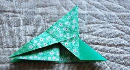 四叶草手工折纸步骤图 手工折纸-第6张