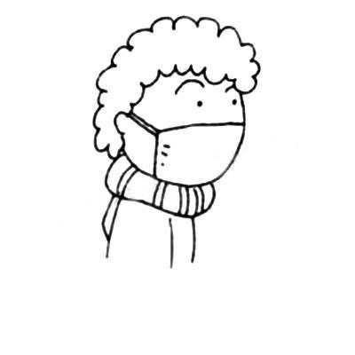 戴口罩的人简笔画 中级简笔画教程-第4张