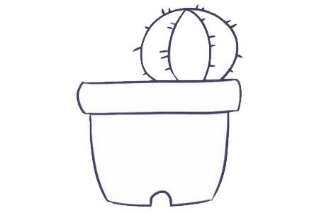 儿童简笔画仙人掌画法 中级简笔画教程-第4张