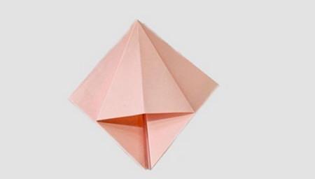 折纸百合花图解步骤 手工折纸-第3张