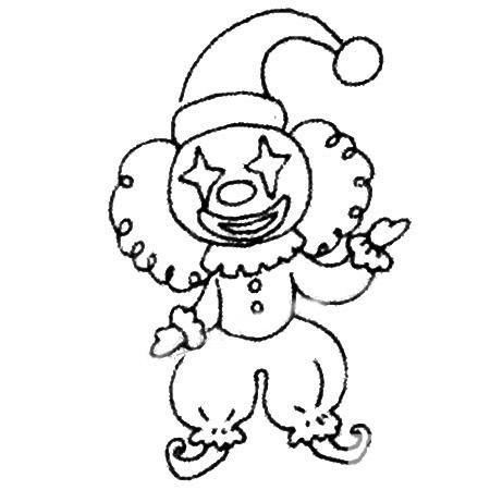 马戏团小丑简笔画图片 人物-第5张