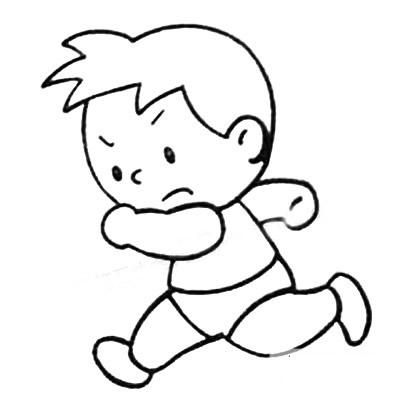 踢足球简笔画画法 中级简笔画教程-第4张