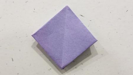 郁金香手工折步骤图解 手工折纸-第7张