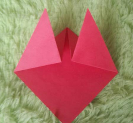 立体小金鱼的简单折法 手工折纸-第5张