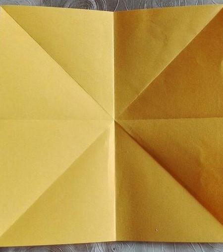 正方形纸盒子的折法步骤 手工折纸-第5张