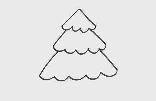 松树儿童简笔画画法教程 中级简笔画教程-第3张