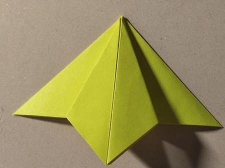 三角书签的折法图解 手工折纸-第4张