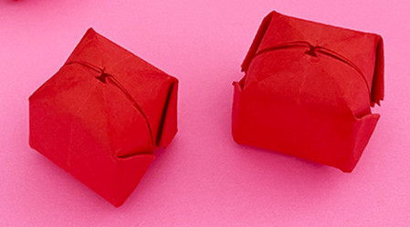 折纸樱桃步骤图解法 手工折纸-第10张