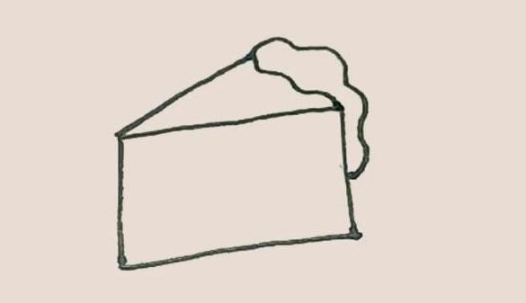 奶酪简笔画的画法步骤图