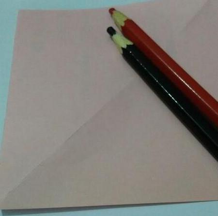 小猫指套折纸步骤图 手工折纸-第2张