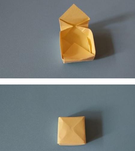 小椅子折纸步骤图解 手工折纸-第7张