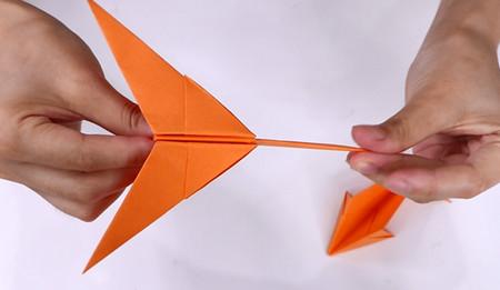 手工折纸飞机的步骤图解 手工折纸-第13张