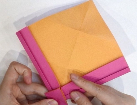 长方形信封的折法图解 手工折纸-第7张