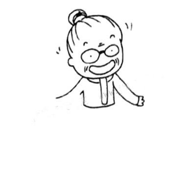 老奶奶简笔画画法 中级简笔画教程-第4张