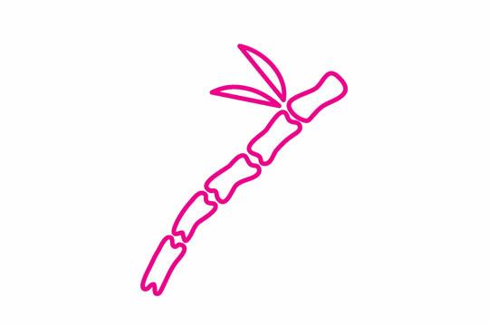 竹子简笔画的画法步骤 植物-第4张