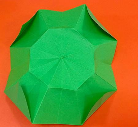降落伞折纸方法图片大全 手工折纸-第10张