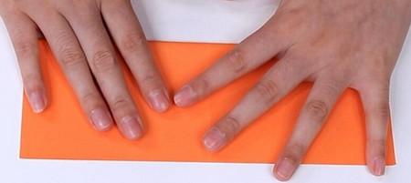 伸缩扇子的折法图解 手工折纸-第4张