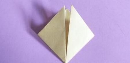 桃心折纸步骤图解 手工折纸-第4张