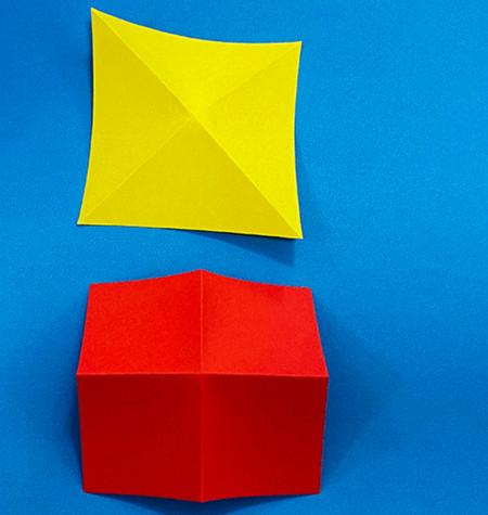 立体无限翻转手工折纸图解 手工折纸-第3张