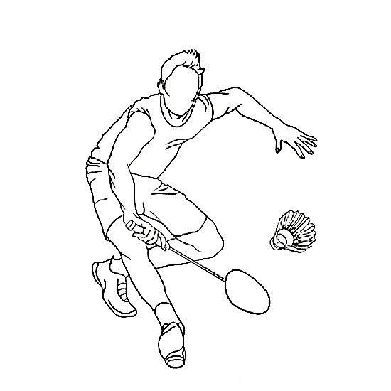 羽毛球运动员简笔画组图 中级简笔画教程-第1张
