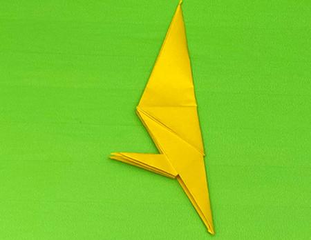 乌鸦手工折纸步骤图解 手工折纸-第11张