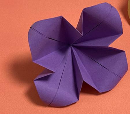 牵牛花折纸步骤图解法 手工折纸-第10张