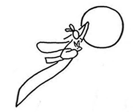 嫦娥奔月简笔画图片大全 人物-第3张