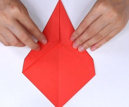 用纸折扇子的方法步骤图片 手工折纸-第5张