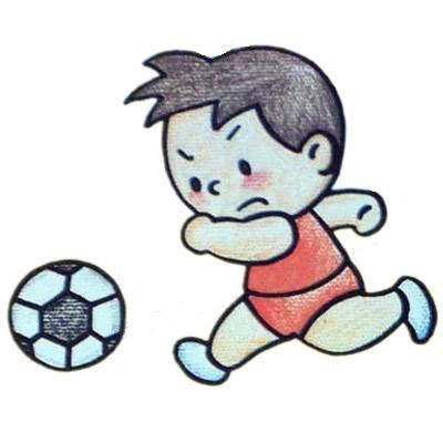 踢足球简笔画画法 中级简笔画教程-第1张