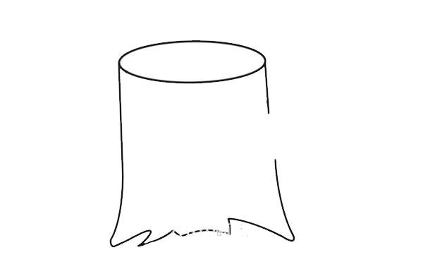 彩色树桩简笔画画法图片 初级简笔画教程-第2张