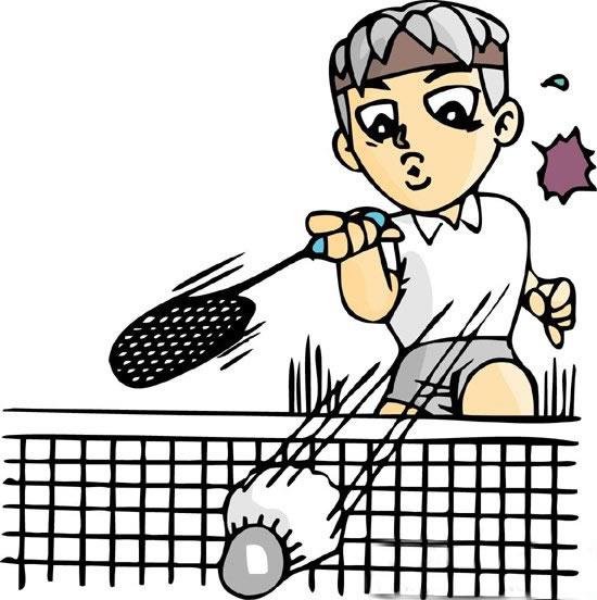 羽毛球运动员简笔画彩色 中级简笔画教程-第4张