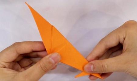 小鸟折纸步骤图解法 手工折纸-第6张