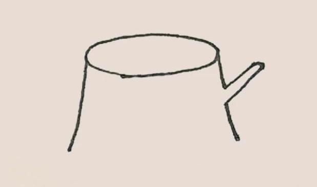 树桩简笔画的画法 初级简笔画教程-第3张