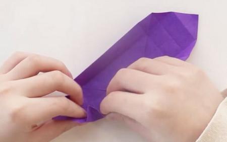 手工折纸文具盒步骤图 手工折纸-第9张