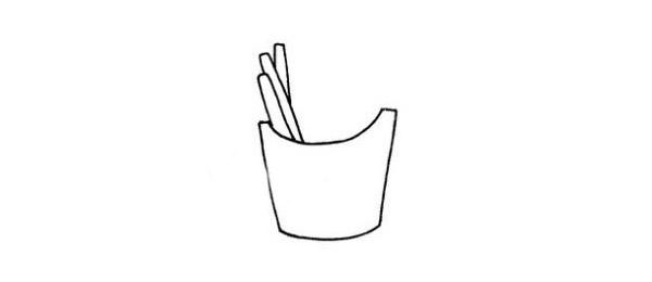 简单的薯条简笔画画法 初级简笔画教程-第3张