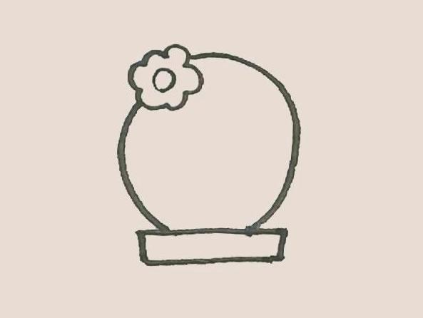 仙人球花简笔画步骤图解教程 中级简笔画教程-第5张