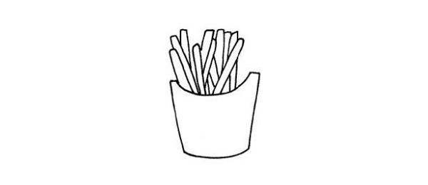简单的薯条简笔画画法 初级简笔画教程-第5张