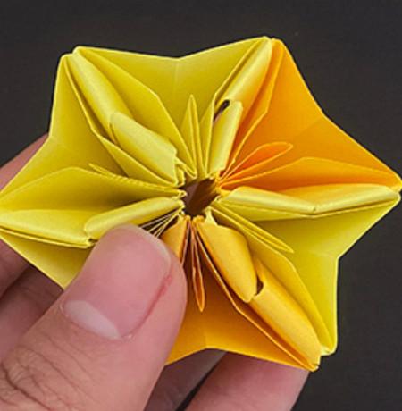 菠萝手工折纸方法图解 手工折纸-第8张